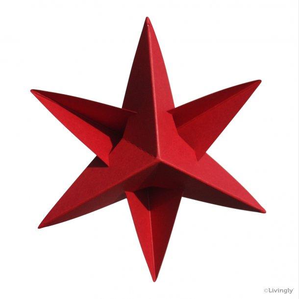 BOXofSTARS, enkelt 14 cm, rød, 4 stk