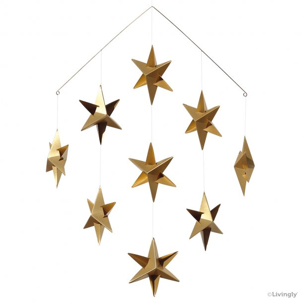 Sirius Stjerne Mobile mini, guld
