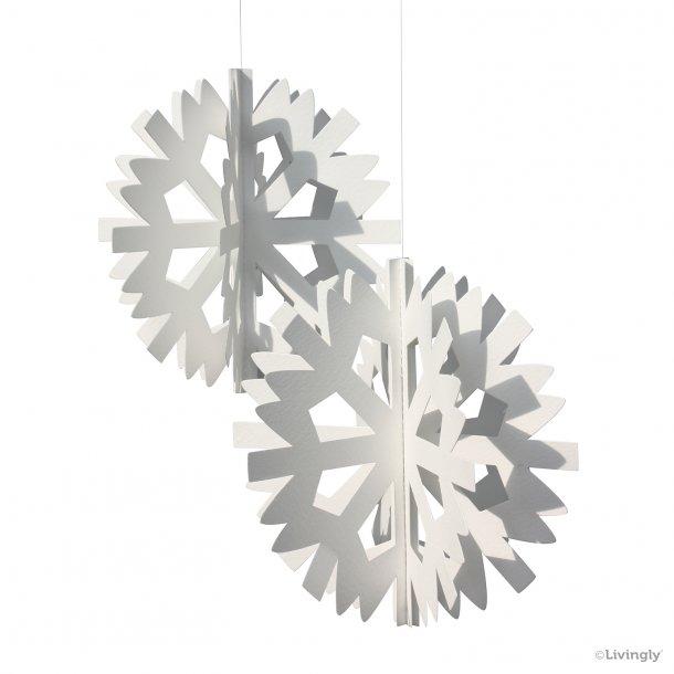 Scandinavian Snowflake, 2 stk. hvid