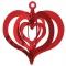 Folde-ud hjerte, 2 stk 11 cm, Rød