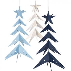Blå og sort Jul
