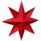 Ingrid 8-takket stjerne, rød