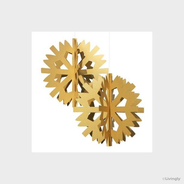 Scandinavian Snowflake, 2 stk. guld