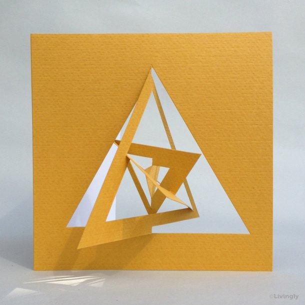 Trekant kort, Bauhaus stil - Gul