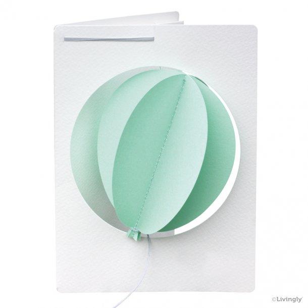 Ballon i Kort polar grøn