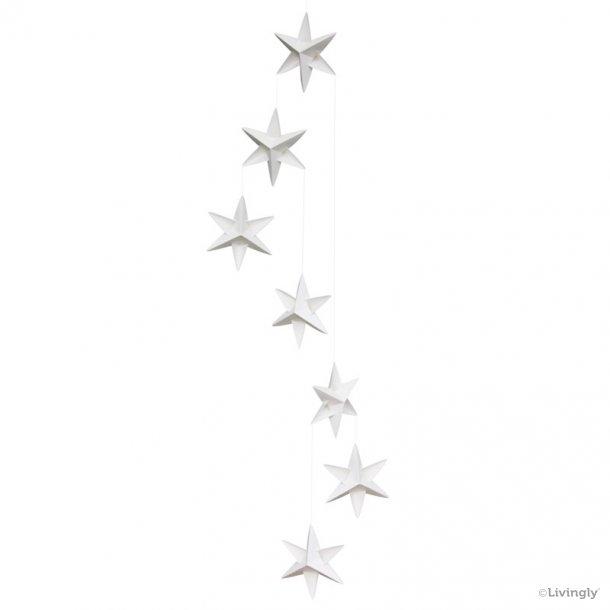 Stjernemobile, 120 cm, hvid