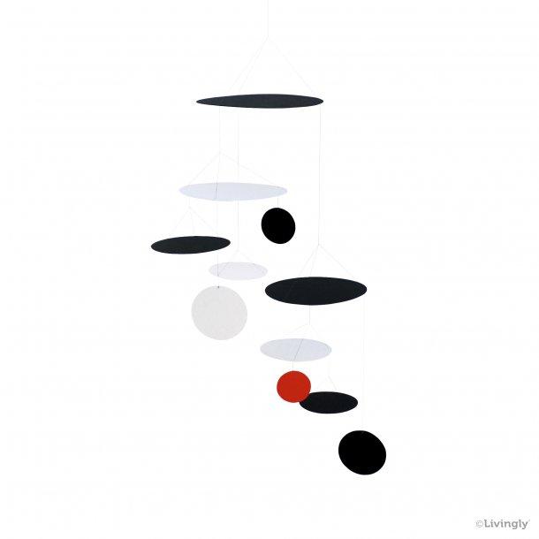 UFO Mobile, sort-hvid-rød